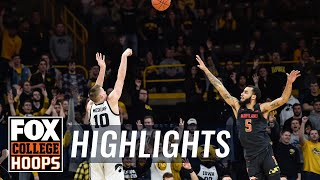 Joe Wieskamp and Luka Garza go off as Iowa upsets Maryland, 67-49 | FOX COLLEGE HOOPS HIGHLIGHTS