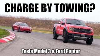 Can You Charge A Tesla By Towing It? (With Ford Raptor)