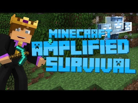 Minecraft: Amplified Survival #12 WITHER BOSS BATTLE FAIL
