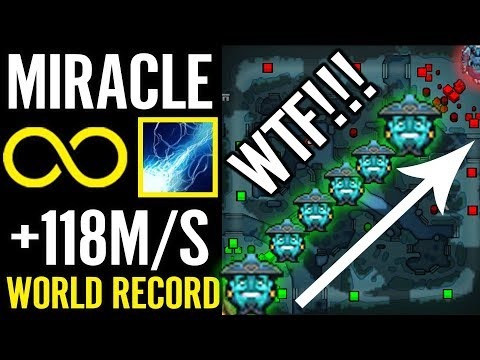 World Record 118Mana/s REGEN Storm Spirit by MIRACLE Dota 2