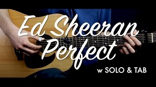 Download Lagu Ed Sheeran - Perfect guitar Lesson Tutorial w SOLO & TAB guitar Cover & chords/How to play Gratis STAFABAND