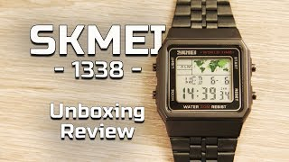 Skmei 1338 World Time Unboxing and review