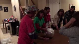 Best and biggest Christmas saran wrap prize ball party game!