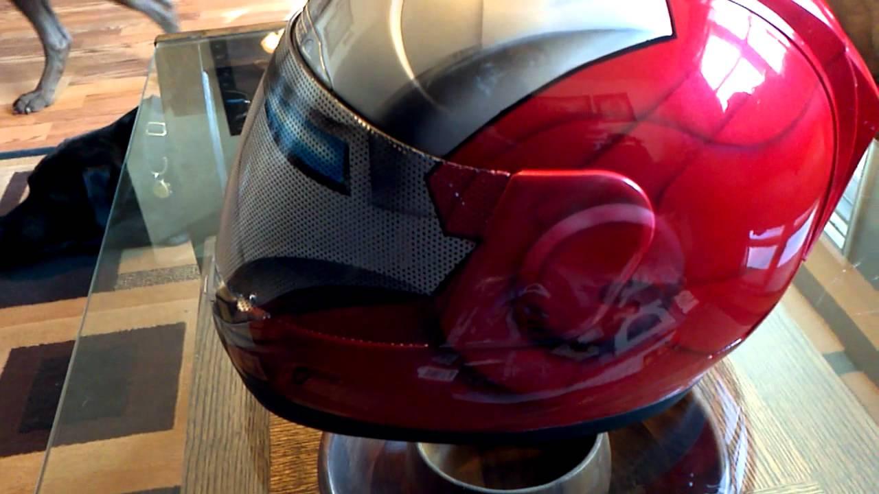 Ironman Mkv Helmet See Thru Perforated Vinyl Shield Custom