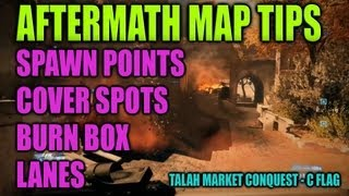 Spawn locations and map tactics_Talah Market Conquest Point C (Battlefield 3 Aftermath)