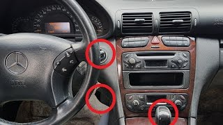 Reset automatic transmission on Mercedes / Reset adaptation Gearbox 722.6 Mercedes W203