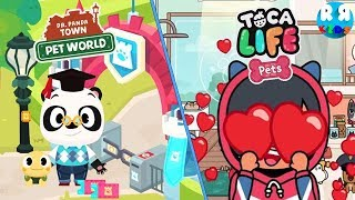 Who's The Better App for Kids??!! - Dr. Panda Town : Pet World vs Toca Life: Pets