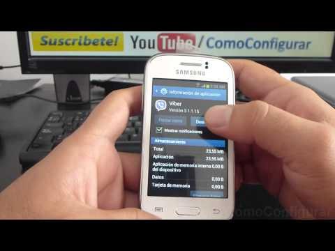 Cómo desinstalar las aplicaciones samsung galaxy Young S6310 español Full HD