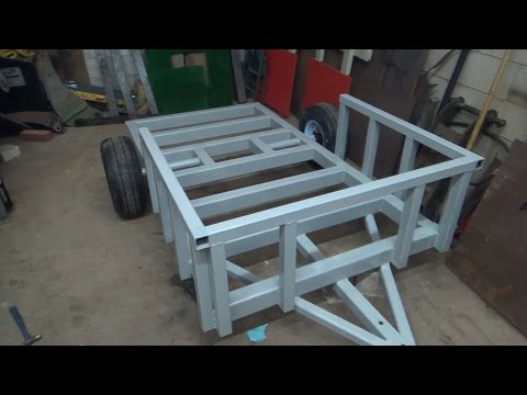 Official MINI EX Trailer Build Day 7...Adding the rack and priming it all