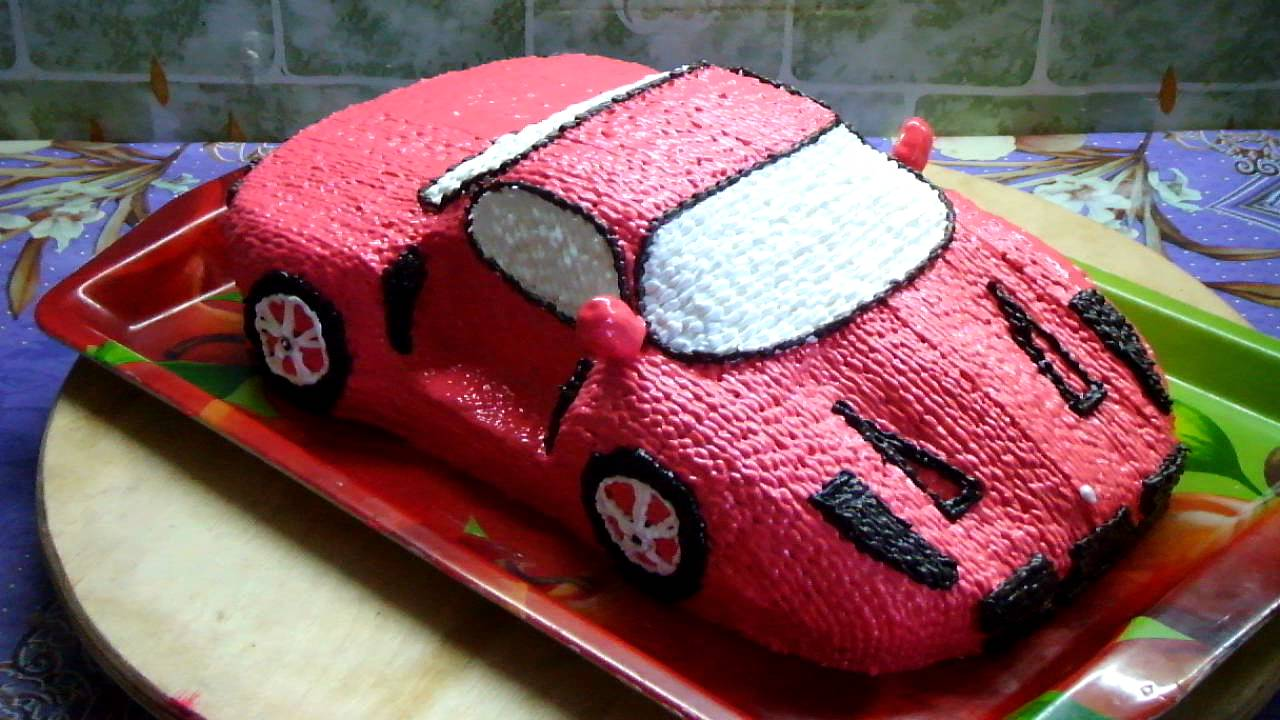 Торт машина из крема пошагово