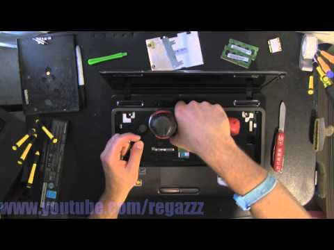 TOSHIBA L645 L645D  take apart video. disassemble. how to open disassembly