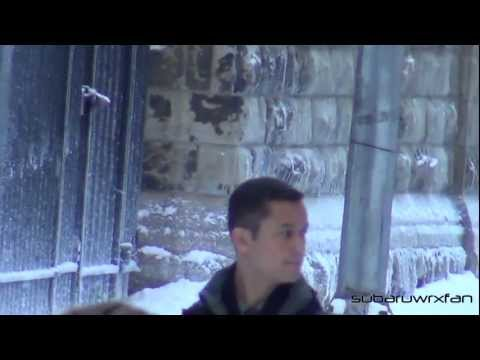 Joseph Gordon-Levitt Filming Scene in Snow! (The Dark Knight Rises)