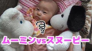 ムーミン vs スヌーピー 赤ちゃんが選ぶのはどっち?!