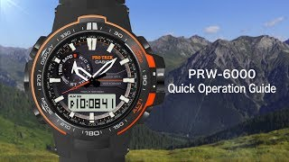 CASIO PRO TREK PRW-6000 Quick Operation Guide