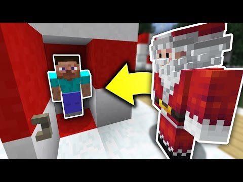 HIDING FROM SANTA! |  HIDE N' SEEK! - Minecraft Mods