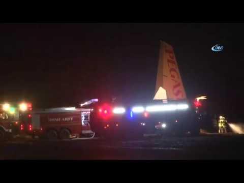 Trabzon Havalimanı'na İniş Yapan Ankara Uçağı Pistten Çıktı