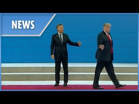 Hilarious moment Trump caught saying 'get me out of here' at G20 Summit