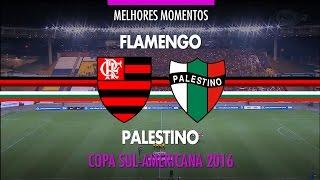 Melhores Momentos - Flamengo 1 x 2 Palestino-CHI - Copa Sul-Americana - 28/09/2016