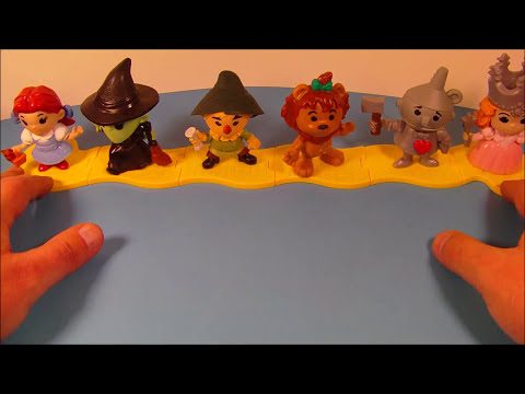 2013 THE WIZARD OF OZ 75th ANNIVERSARY SET OF 6 McDONALD'S HAPPY MEAL TOY'S VIDEO REVIEW