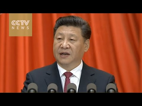 General Secretary of the CPCCC Xi Jinping delivers speech at the celebratory conference