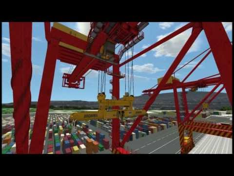 Ship-to-Shore Crane Simulation with Straddle Carriers