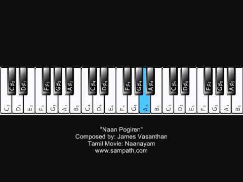 Naan Pogiren - Naanayam - Piano Tutorial