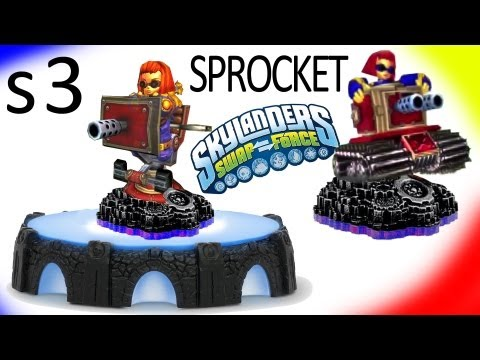 Series 3 Sprocket. Ninjini + 1st Giant Prototype (Skylanders Swap Force & Giants)