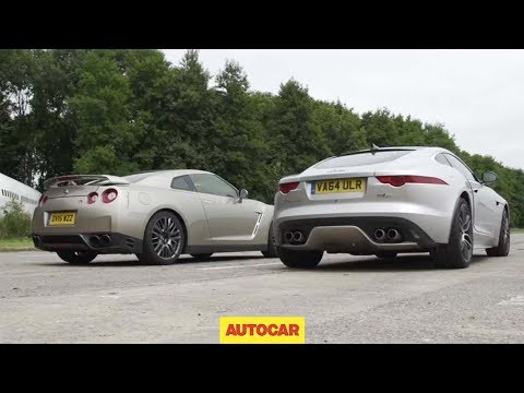 Nissan GT-R versus Jaguar F-Type R AWD Coupé Drag Race