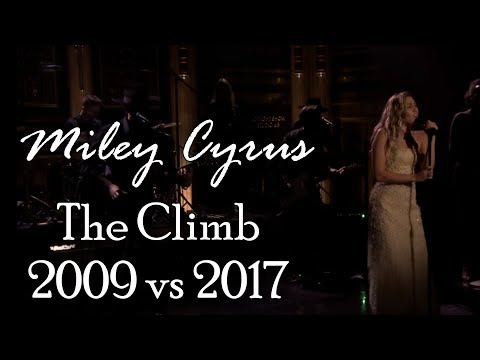 Miley Cyrus The Climb 2009 vs 2017 (split audio)