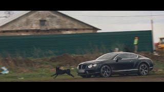 Bentley Continental GT test in mud- Russian