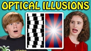 10 Mind Blowing Optical Illusions with Teens #4 (React)