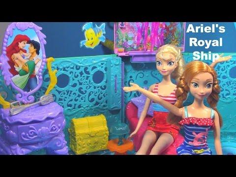 Elsa Anna Ariel 2 in 1 Ship The Little Mermaid Toy Review Frozen Parody