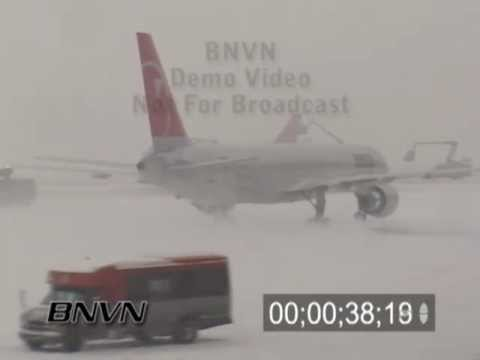 Winter storms and aviation de-icing video part 2