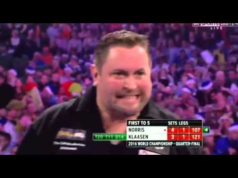 Alan Norris scoring 4: Audience Laughs! - 2016 PDC World Championship