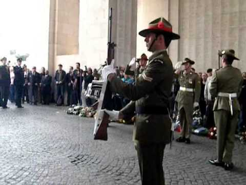 Anzac Day at the Menin Gate Ypres 2014
