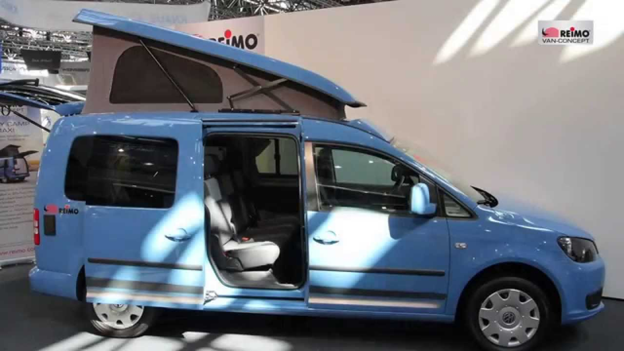 vw caddy camp maxi minicamper compact camper for 3 people youtube. Black Bedroom Furniture Sets. Home Design Ideas