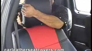 How to install the Clazzio car seat cover...