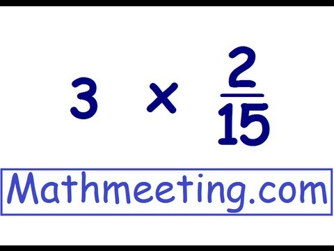 Multiplying Fractions 2 video