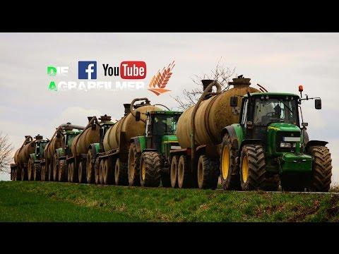 GÜLLEBOMBER / Holmer Terra Variant 600; 5 John Deere; Valtra; Claas / Die Agrarfilmer [HD]