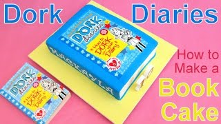 Dork Diaries Book Cake How to by Pink Cake Princess - Back to School Cake