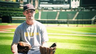 Dustin Pedroia and the new Wilson A2000 DP15 glove
