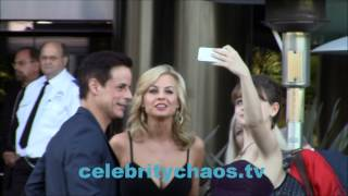 Christian Jules Le Blanc  and  joey king take celebrity selfies