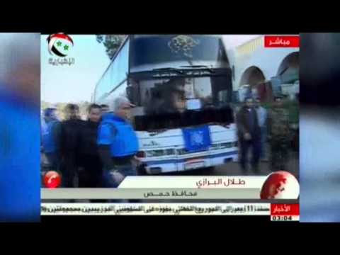 Raw: Dozens Evacuated From Syrian City of Homs