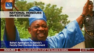 Buhari Apologises To Abiola's Family Over Election Annulment Pt.1 |News@10| 12/06/18