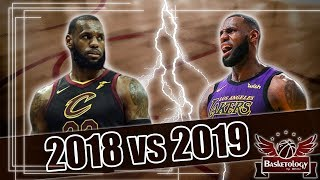 LeBron CAVS 2018 vs LeBron LAKERS 2019 #2 : La défense