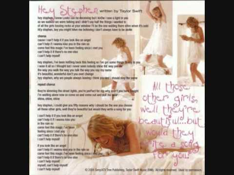 Hey Stephen - Taylor Swft + LYRiCS
