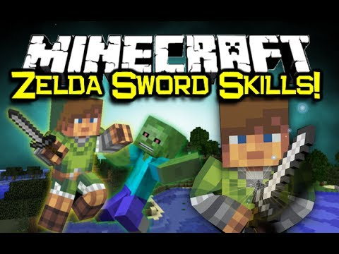 Minecraft ZELDA SWORD SKILLS MOD Spotlight! - Moves Like Link! (Minecraft Mod Showcase)