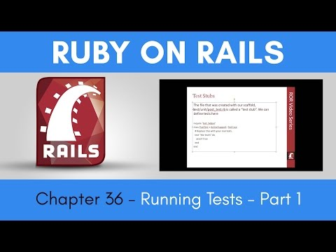 Learn Ruby on Rails from Scratch - Chapter 36 - Running Tests - Part 1