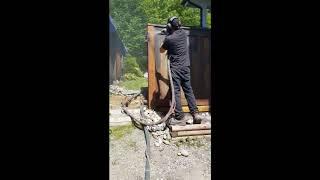 ADK ECO Blast wooden fencing