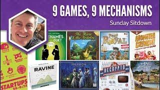 9 Games, 9 Mechanisms (Sunday Sitdown)
